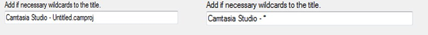 remind me filter camtasia wizard